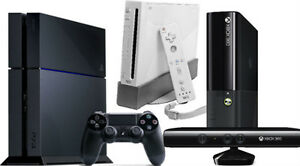 WE BUY ANY PS3, XBOX360, WII, CUBE, SEGA,NES GAMES