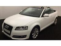 White Audi A3 Cabriolet 1.6 1.8 2.0 TDI Diesel Sport FROM £49 PER WEEK!