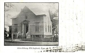 Antique-POSTCARD-c1905-Acton-Library-OLD-SAYBROOK-CT-CONN