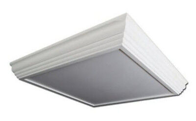 LED 2x2 Crown Molding Surface Mount Light Fixture - 2 LED Lamps Included Crown Molding 2 Light