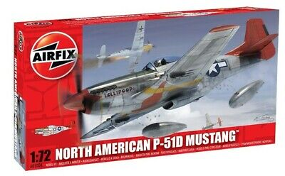 "AIRFIX 1/72 NORTH AMERICAN P51-D MUSTANG ""TUSKEGEE"" 1944 PLASTIC MODEL KIT 01004 for sale  Derby"