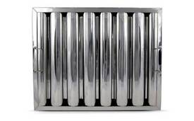 Stainless steel baffle filters 495 x 395 x 45