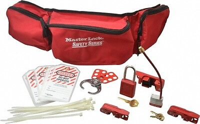 Master Lock. 7 Piece Electrical Lockout Kit 1-12 Inch Vertical Shackle Clear...