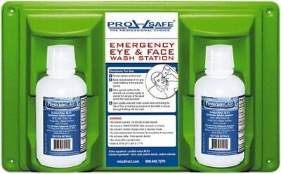 PRO-SAFE 32 Ounce, Double Station, Disposable Eye Wash Station Approved By FDA Double Eye Wash Station