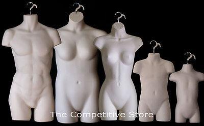 Fleshtone Female Dress Male Child Toddler Plus Size Mannequin Display Forms