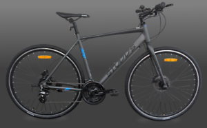 Brand New Alloy Flat Bar Road Bike with Shimano Hydraulic Disc Brakes