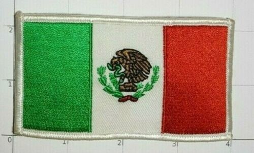 Mexico Flag Patch Bandera de México Aztec Eagle Serpent Naval Ensign