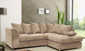 70% OFF*** BRAND NEW JUMBO CORD DYLAN CORNER OR 3 SEATER AND 2 SEATER SOFA AT VERY CHEAP PRICE