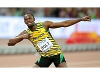 USAIN BOLT Sat 5 August 2 x IAAF Athletics Tickets Cat B - USAIN BOLT's last ever 100m race!