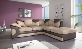 🔴⚫️🔴BLACK FRIDAY SALE 🔴⚫️🔴BRAND NEW DINO JUMBO CORD CORNER OR 3 AND 2 SEATER SOFA--Brown colour