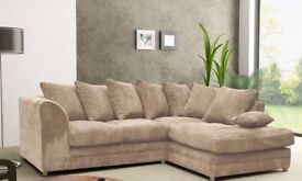 🔰🔰 Dylan Jumbo cord fabric Corner🔰🔰 Brand New Corner Sofa Set OR 3 and 2 seater sofa