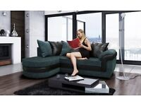 Really nice Brand New black and grey fabric corner sofa with chase lounge.delivery available