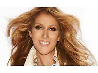 Celine Dion tickets X 2 @ 02 30th July. Block 103