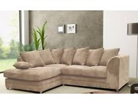 ❤100% BEST PRICE GUARANTEED❤ BRAND NEW ITALIAN JUMBO CORD DOUBLE PADDED 3 AND 2 SOFA OR CORNER SOFA