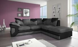 Dino Corner/2+3 Seaterbrand new Sofa In Black & Grey or Brown & Beige-SAME DAY CASH ON DELIVERY