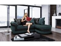 Amazing Brand New black and grey fabric corner sofa with chase lounge.delivery available