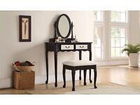 GWF Dressing Table With Mirrored Drawers new box
