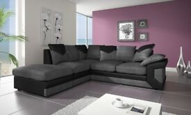 brand new comfy dino jumbo cord corner sofa in black grey or brown beige left hand or right hand sid