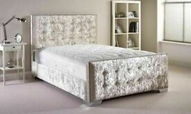 ☀️☀️CHEAPEST PRICE EVER☀️☀️DOUBLE OR KING SIZE CHESTERFIELD BED WITH MATTRESS - ALL COLORS