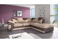 High Quality Fabric Corner Sofa Also Available in 3 and 2 Seater Sofa leather in two colours