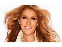 Celine Dion tickets @ o2 30th July block 103