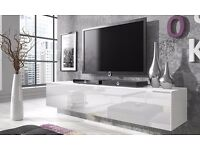 Rocco Floating Gloss TV Cabinet - 160cm (L) x 40cm (H) x 34cm (D)