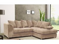 Amazing New colors' Collection! Brand new dylan jumbo cord corner or 3 and 2 seater sofa set.