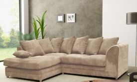 Luxury Byron Jumbo cord 3+2 Seater Sofa Available in Stock.. ORDER now for Express Delivery""