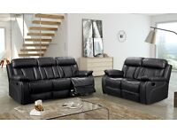 BUY THE BELLA 3 SEATER HIGH BACK RECLINER SOFA £449 AND GET THE 2 SEATER RECLINER FREE !!!
