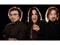 BLACK SABBATH - BLOCK 103 ROW G - O2 ARENA - TUES 31/01 - £125!