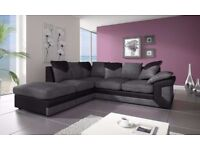 SAME DAY DELIVERY == Jumbo Cord Dino Corner Sofa Brand New Order Now = We Do Same Day Delivery
