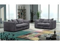 2 & 3 Seater Sofa For Sale Footstool included ! Grey Cord Excellent condition !