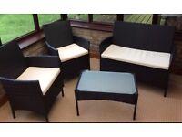 Conservatory/Patio Rattan Effect Garden Furniture Set