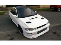 Subaru impreza WRX with STI ENGINE, Alcatek ecu Antilag,Chargespeed, VF35 huge spec