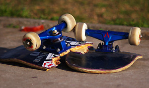 Broken skateboard decks