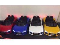 Audi R8 12v Parental Remote & Self Drive Door Opens Led Lights Ride-On
