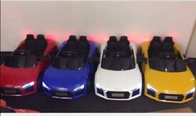 Audi R8 12v Parental Remote & Self Drive Door Opens Led Lights Ride-On