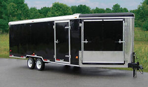 A 4 place enclosed trailer, for mobile storage