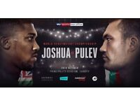£90 FV ANTHONY JOSHUA VS KUBRAT PULEV - TICKETS FOR SALE CHEAP - GREAT VIEW - GREAT ATMOSPHERE