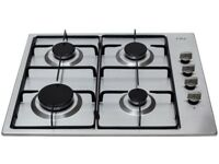 4 burner stainless steel gas hob 60cm