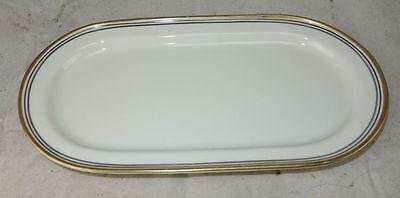 Langenthal Porzellan Elfenbein mit Goldrand Servierplatte 23,8 X 12,9 cm
