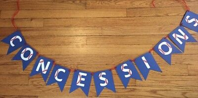 Baseball Concessions Banner Handmade - Concessions Banner