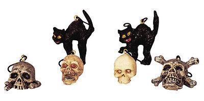 Lemax Spooky Town Village Halloween Tree Decorations Cats & Skulls 42844 - Spooky Town Halloween Decorations