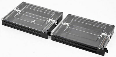 Lot 2 Semiconductor 701-419 Silicon Wafer Case Plate Holder Cartridge Module