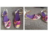 Brand new wedge heeled sandles
