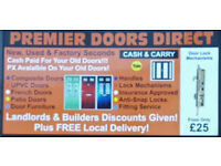 Various sizes of Brand New & Used UPVC & Composite Doors, French Doors & Sliding Patios For Sale