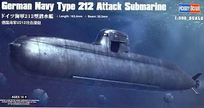 Hobby Boss U-Boot boat German Navy Type 212 Attack Submarine 1:350 Bausatz kit