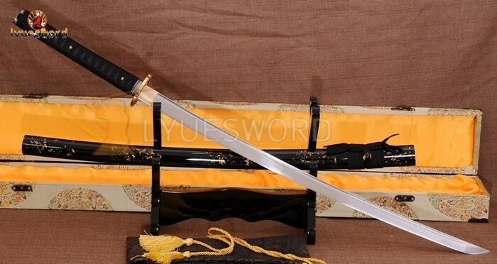 Handmade Japanese Samurai Sword KATANA 1060 Carbon Steel Sharp Blade Full Tang