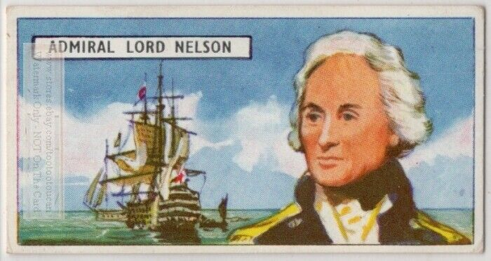Vice Admiral Horatio Nelson Royal Navy Napoleonic Wars Vintage Ad Trade  Card