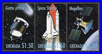 GRENADA = USA IN SPACE  // SHUTTLE / SPACE PROBES // COMET  MNH